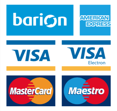 Oldalunkon a lehetőséged van kényelmesen és biztonságosan online is fizetni a Barion Payment Zrt. jóvoltából (MNB engedély szám: H-EN-I-1064/2013)