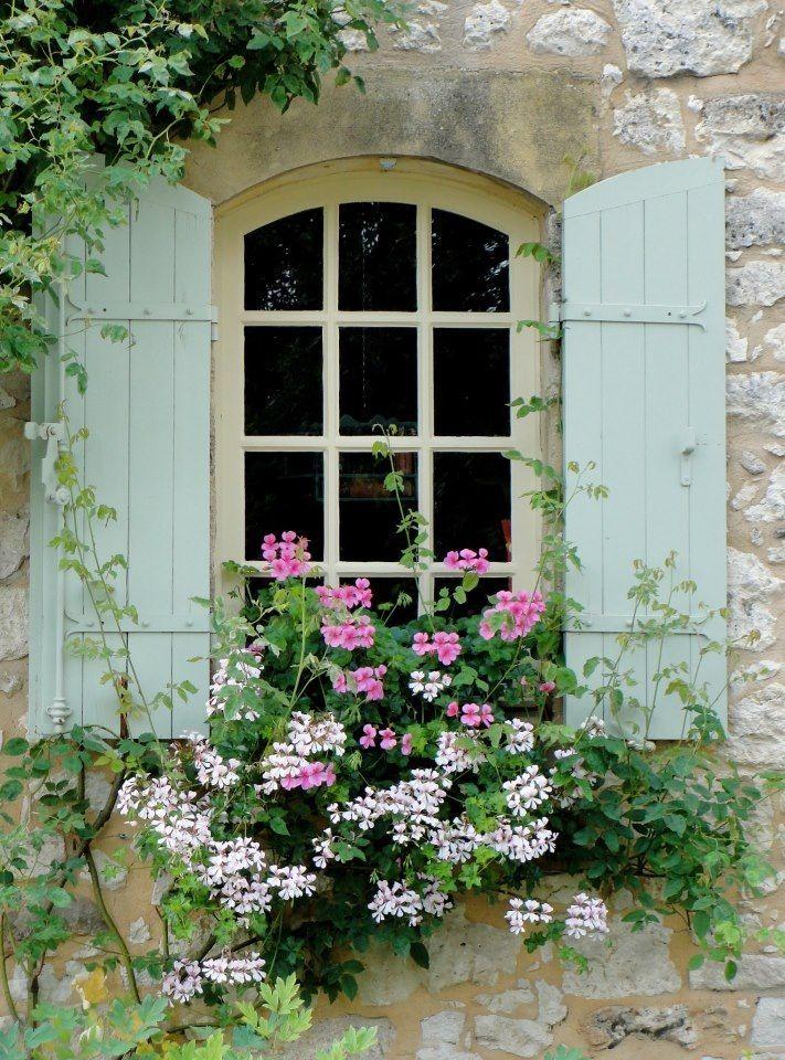 ablak virággal