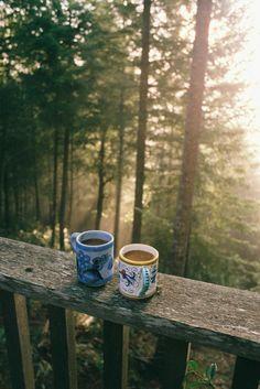 tea a teraszon
