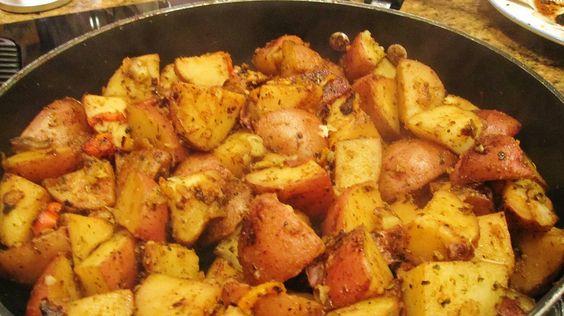 serpenyőben sült krumpli